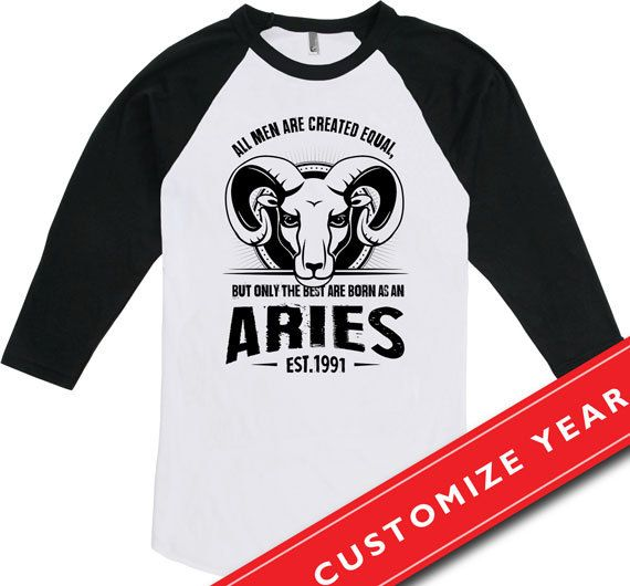 25th Birthday Gift Ideas 25th Birthday Man Only The Best Are Born As An Aries T Shirt 25 Years Old American Apparel Unisex Raglan CTM-12