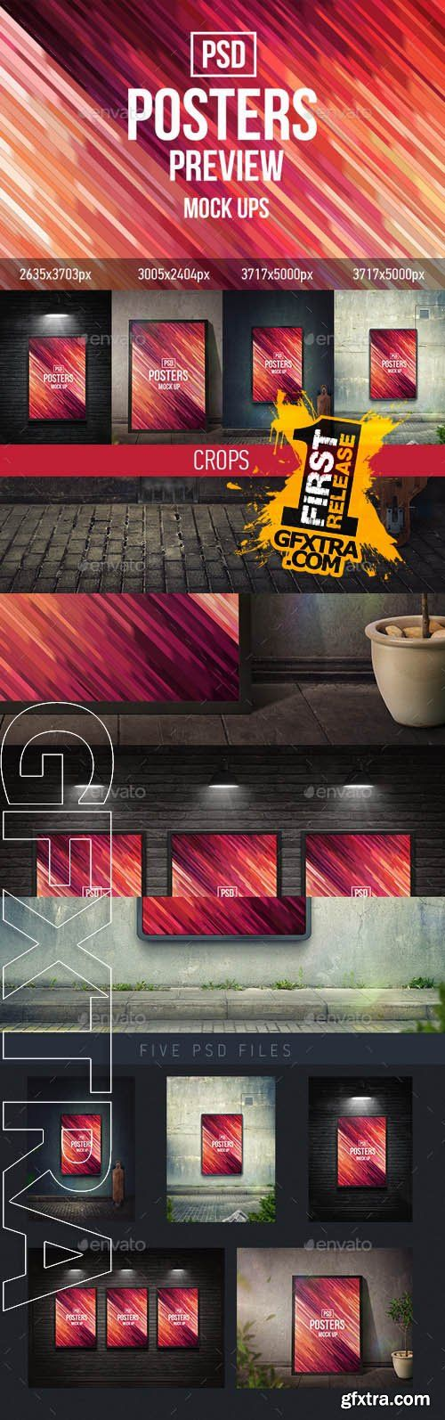 Posters Mock-Ups (PSD) - Graphicriver 9261465