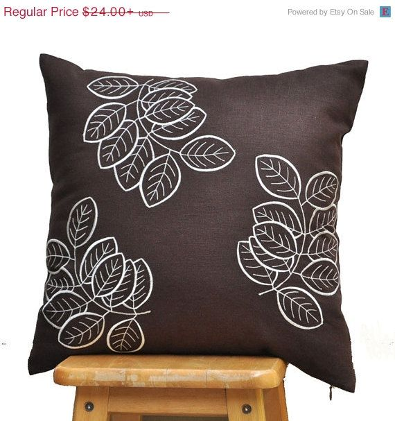 Brown Pillow Cover Throw Pillow Cover Decorative by KainKain