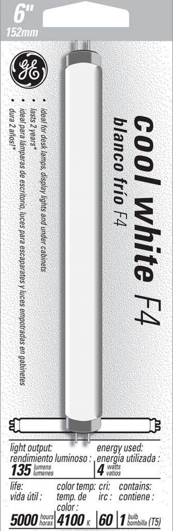 GE Garage and Basement 15983 4-Watt, 135-Lumen T5 Light Bulb with Miniature Bi-Pin (G5) Base