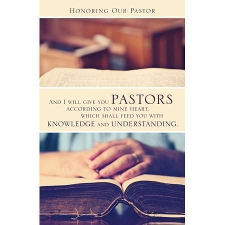 Honoring Our Pastor (Jeremiah 3:15, KJV) Bulletins, 100