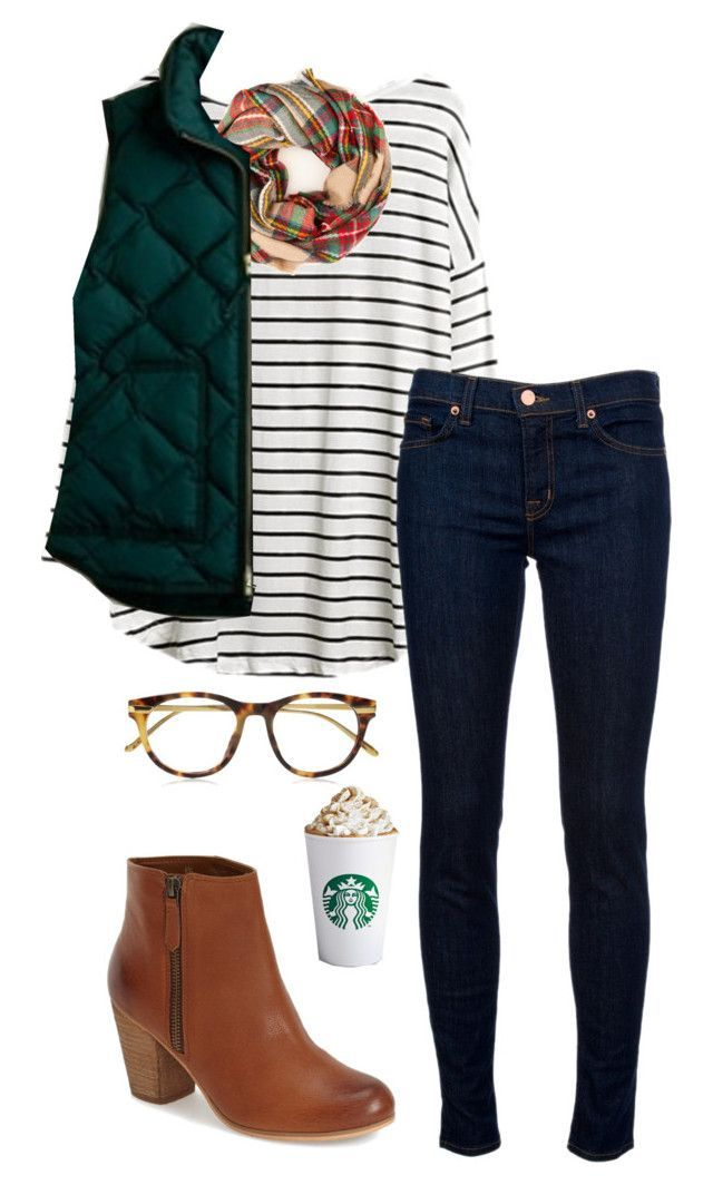 """""""Fall outfit"""" by thepinkcatapillar ❤ liked on Polyvore featuring J Brand, BP., J.Crew and Linda Farrow Luxe"""