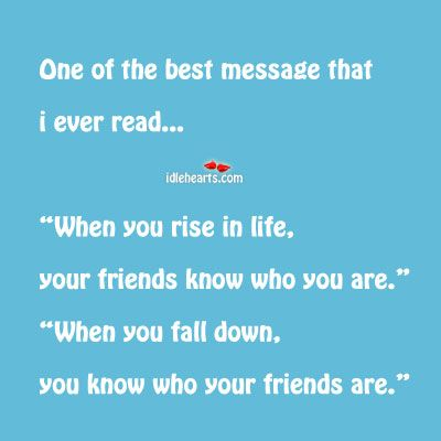 Finding out who my friends are and who isn't that's for sure. Makes you wonder when you never hear back from them :-((