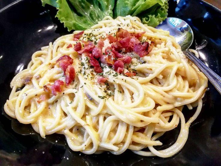 Creamy #Spaghetti #Cabonara