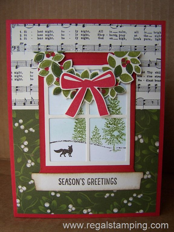Hearth & Home Winter Scene, Stampin' Up! by Krista Thomas, www.regalstamping.com