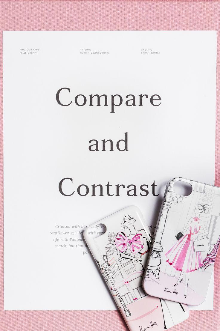 #phone #pink #illustration #flatlay