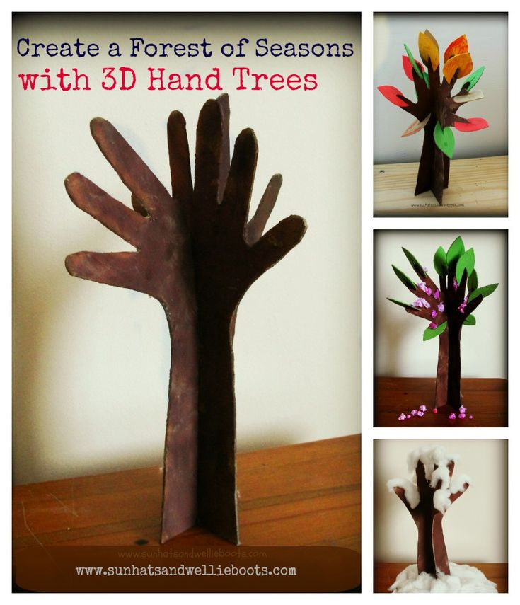 3D Hand Trees - Exploring the 4 Seasons