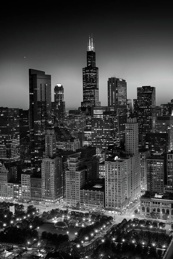 City Light Chicago B W Photograph By Steve Gadomski Black And White Photo Wall Black And White Picture Wall Black Aesthetic Wallpaper