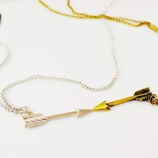 40. Cute arrow necklace (each) (silver and gold available) $3
