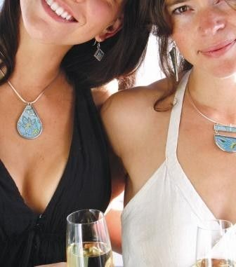 Bride and Bridesmaid Matching Silk Brocade Pendants with Matching Earrings Custom Wedding Accessories