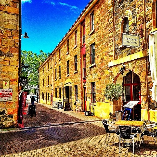 Tasmania is full of hidden laneways and unexpected discoverys. Rachel Haugh captured this shot of Woobys Lane off Salamanca Square in Hobart. #hobart #tasmania #salamancasquare #discovertasmania
