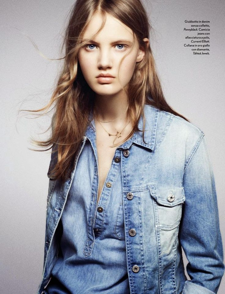 Noa Vermeer by Letizia Ragno for Amica Italia June 2015 fashion editorial jeans denim