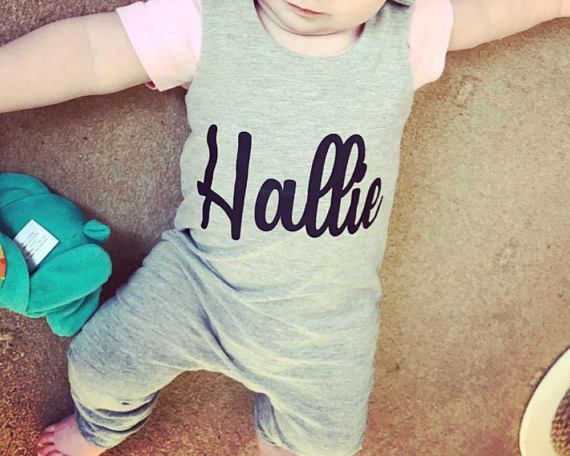 Baby romper, toddler romper, Baby girl romper, Girls romper, Girls dungarees, Baby girls dungarees, baby girls clothes, Personalised romper, baby girl clothes, girls clothes These adorable baby and toddler rompers are available plain or personalised with any name. Other texts