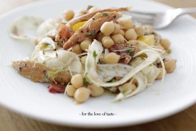 mackerel chickpea - makreel kikkererwten - salade