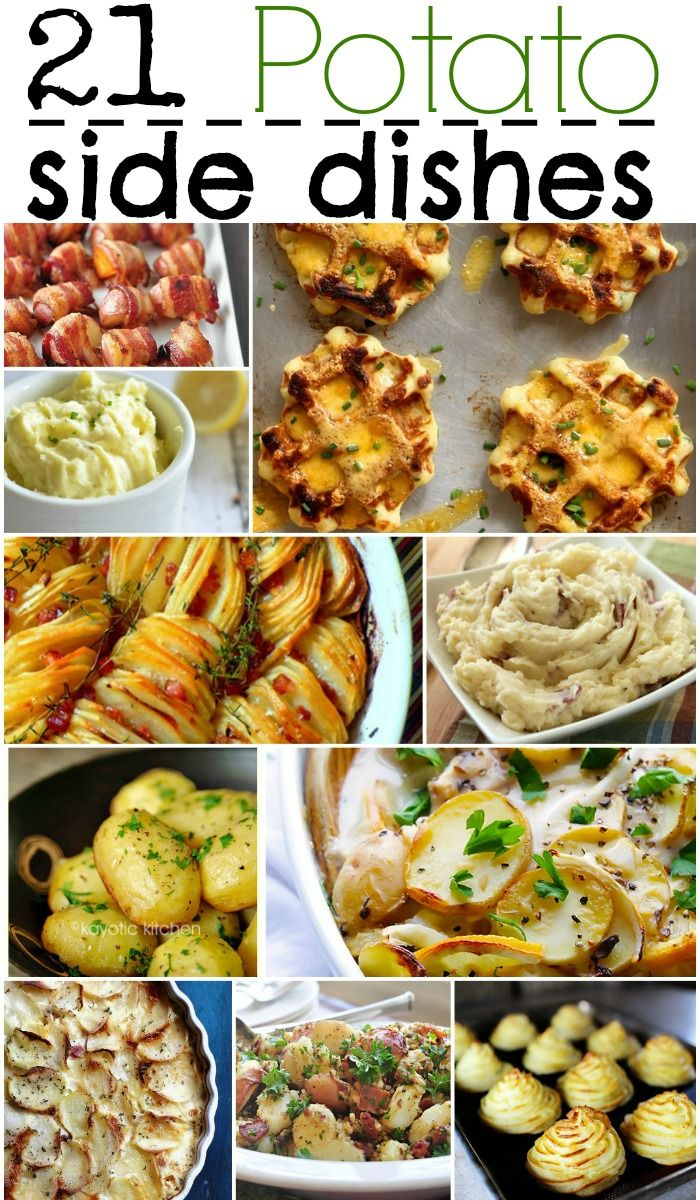 21 Potato Side Dishes | Perfect for everyday meals and holiday meals- #recipe