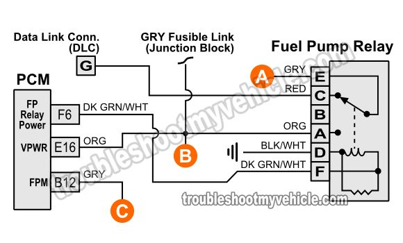 Fuel Pump Relay Wiring Diagram (1994 Chevy Pickup 4.3L, 5