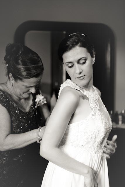 Mom zipping up my dress
