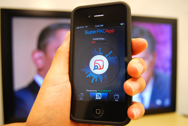 """Shazam"" political ads instead of music with ""Super PAC app"""