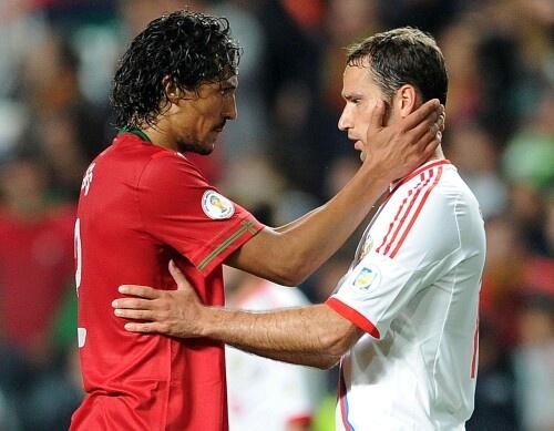 Bruno Alves and Roman Shirokov