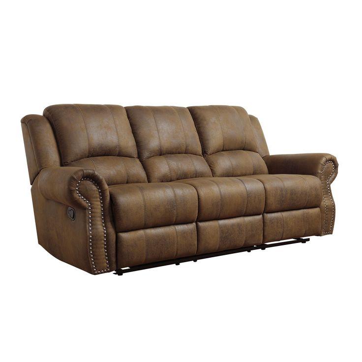Coaster Company Brown Microfiber Reclining Sofa (Motion Sofa) (Wood)  sc 1 st  Pinterest & 99 best Reclining furniture images on Pinterest | Reclining sofa ... islam-shia.org