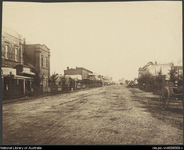 Hanrahan's Mechanics Hotel, Bendigo, Victoria, ca. 1872