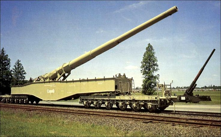 """ANZIO ANNIE"" - Aberdeen Proving Ground, Md. - This captured famous German railway gun poured fire into the American forces on the Anzio beachhead in Italy in World War II."