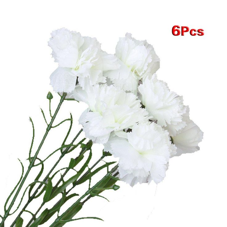 [Visit to Buy] UESH!6pcs Simulation Carnation Flowers Artificial Plants Flowers #Advertisement