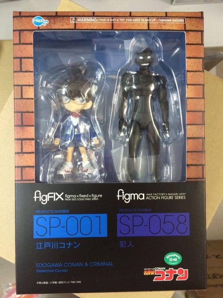 FREEing figFIX Conan Edogawa & figma Criminal Detective Conan Action Figure GSC #FREEing