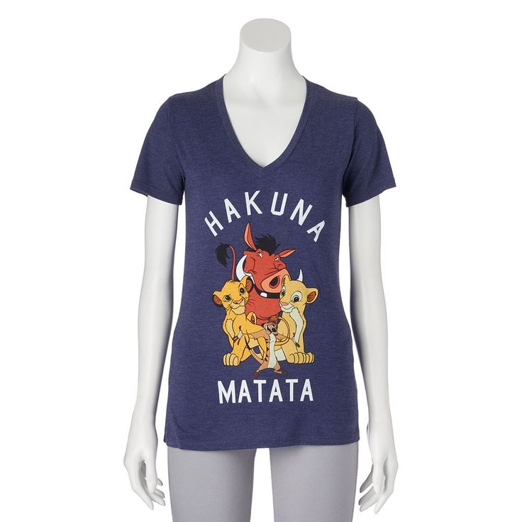 "Disney's Juniors' The Lion King ""Hakuna Matata"" Graphic Tee, Teens, Size: Medium, Grey Other"