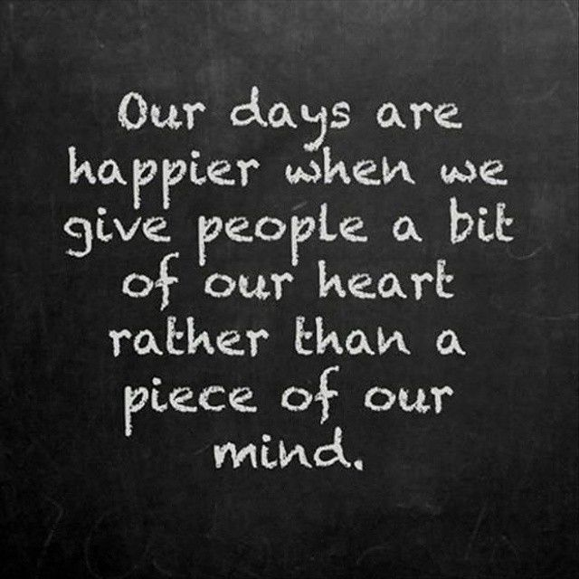 Give people a bit of our heart