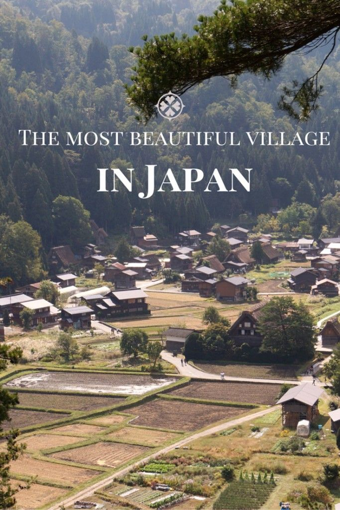 The most beautiful village in Japan is Shirakawa-go in the Gifu Prefecture. The village with it's old reed covered houses is a UNESCO World Heritage site