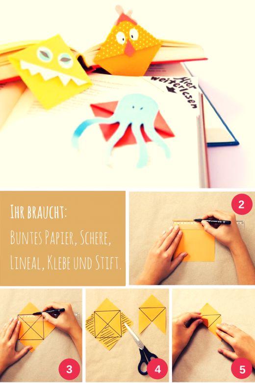 Lesezeichen basteln. Das komplette Tutorial mit Anleitung gibt es auf www.meinesvenja.de