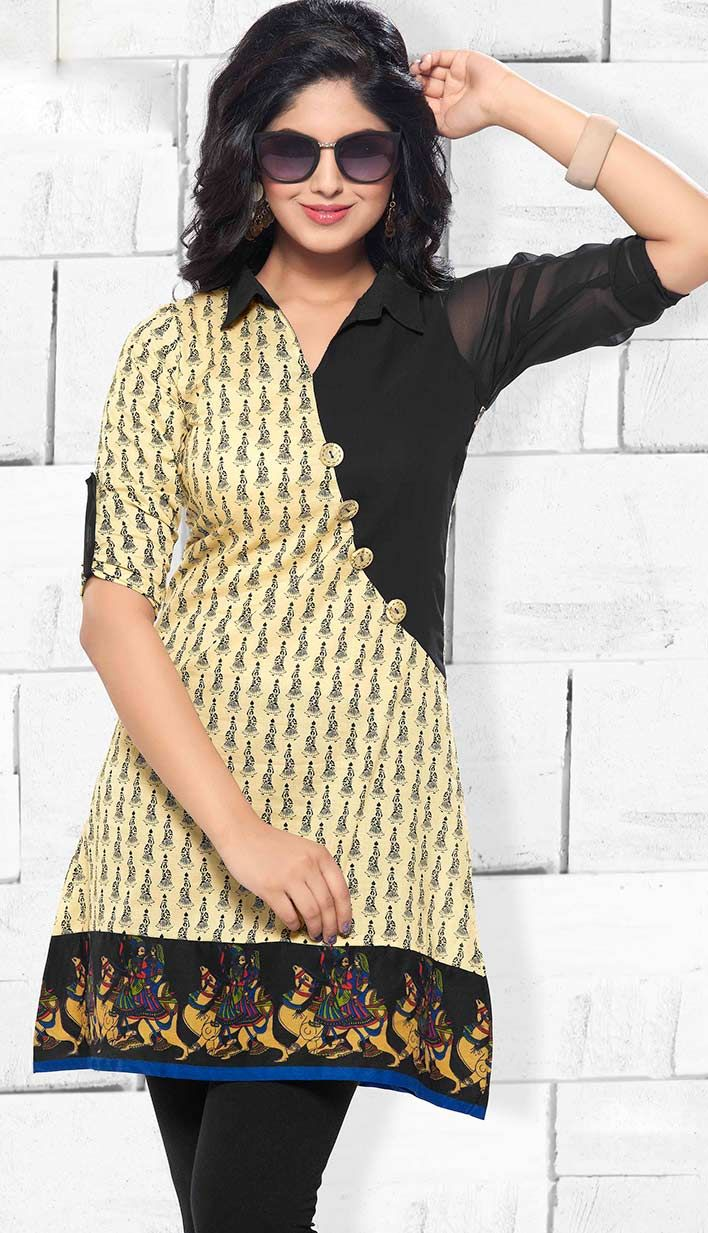 Get Readymade Cream color fashionable #CottonSilkKurti online.. http://bit.ly/1tc47Ee Price: INR 1376 (Readymade), Color: Cream Efello offers latest designs in cotton silk kurtis. Check out here. http://www.efello.co/Kurti