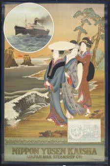 Nippon Yusen Kaisha = Japan Mail Steamship Co. [Three ukiyo-e women] :: Rare Books and Manuscripts Collection