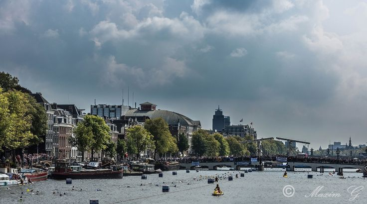 Amsterdam Cityswim for ALS  #canals #amsterdam #swimming #ALS #photography #netherlands #amstel #magere brug #bridge #river