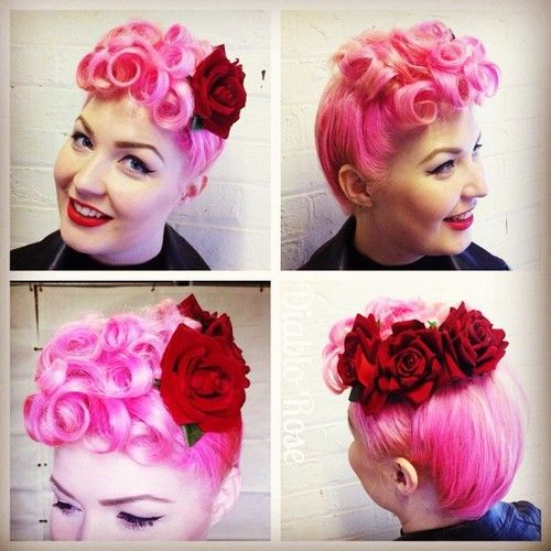 Rose Tattoo Dedicated To The Fam 2 Big Roses For The: 1000+ Images About Vintage/Rockabilly Updo's On Pinterest