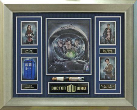 Dr Who five photo collage signed by Karen Gillan, Arthur Darvill & Matt Smith