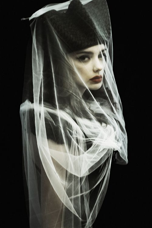 Dita by Serge Sarkisoff, via Behance #photography #model #veil