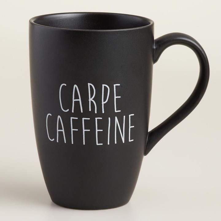 """""""Carpe Caffeine"""" Mug"""