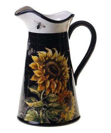 Loving this French Sunflowers Pitcher on #zulily! #zulilyfinds