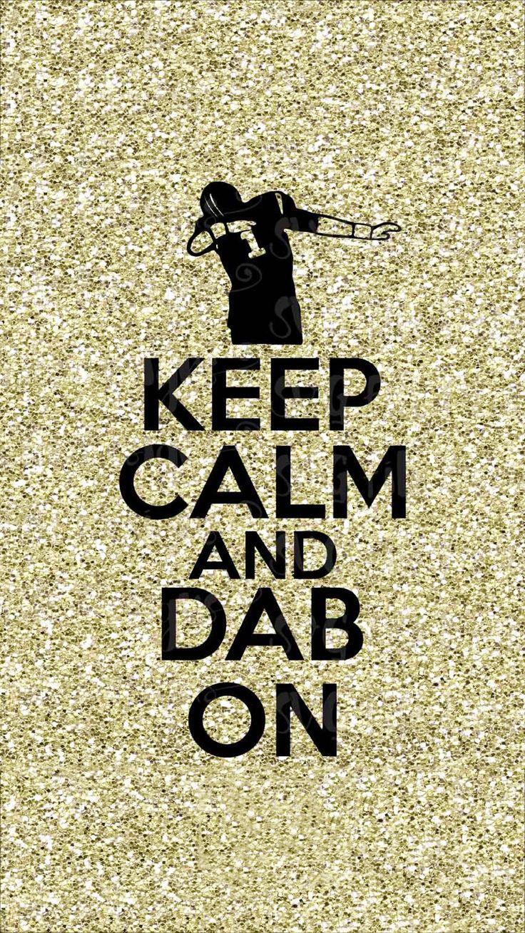 Just dab ...