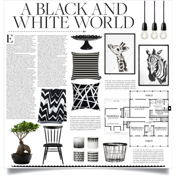 """Black And White World"" by veronikasinterior on Polyvore"