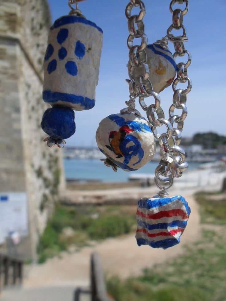 necklaces,bracelets and earrings with ceramic of SALENTO patterns