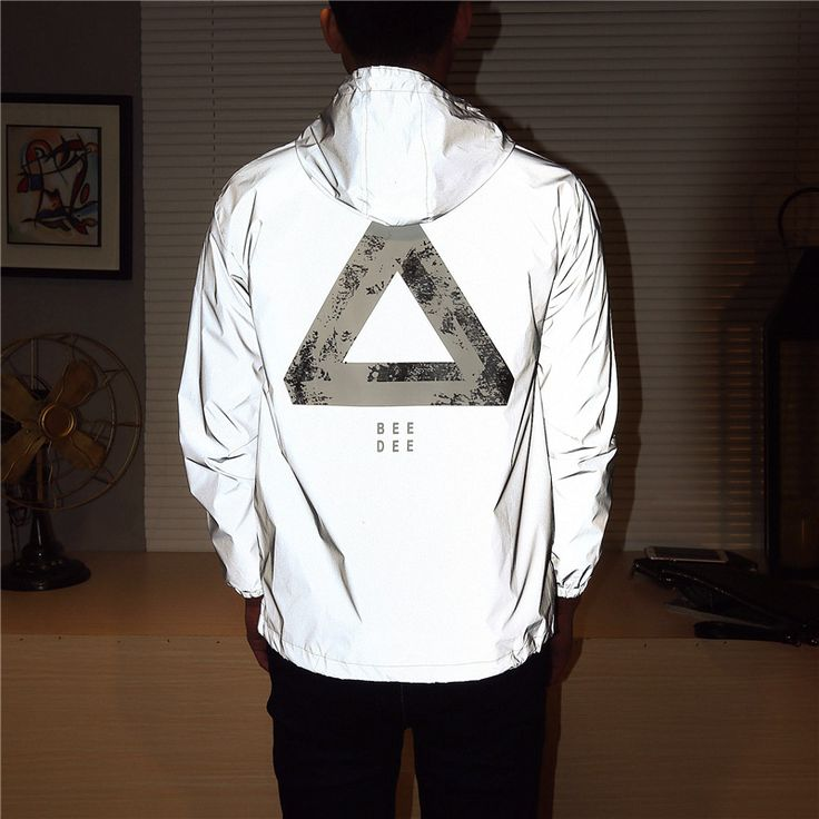 Cheap windbreaker 3m, Buy Quality 3m reflective jacket directly from China reflective jacket Suppliers:     Men jacket casual hiphop windbreaker 3m reflective jacket tide brand men and women lovers sport coat hooded fluoresc