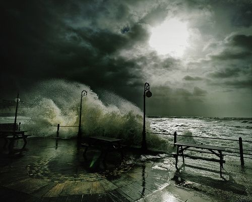 night, ocean, photography, pretty, storm, wave - inspiring picture on ...