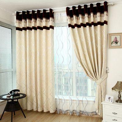 Amarillo cortinas de la ventana para sala de estar dormitorio glicinas calidad de la tela producto terminado cortina chenilla breve…