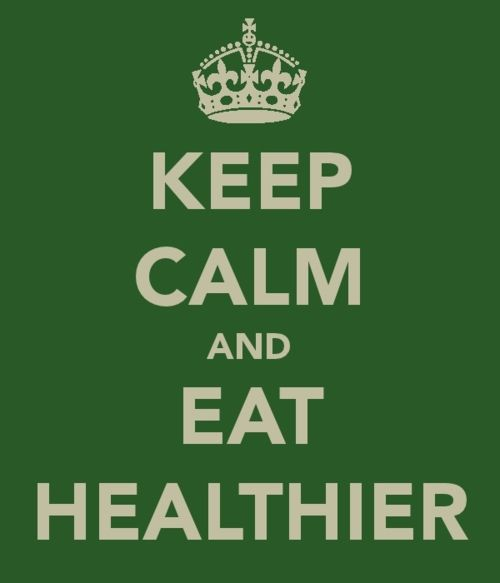 keep calm and eat healthier #keepcalm #benessere