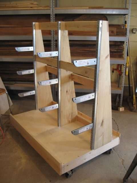 17 best images about workshop lumber racks on pinterest for Mobile lumber storage rack plans