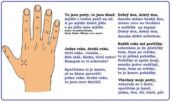básnička ruce: