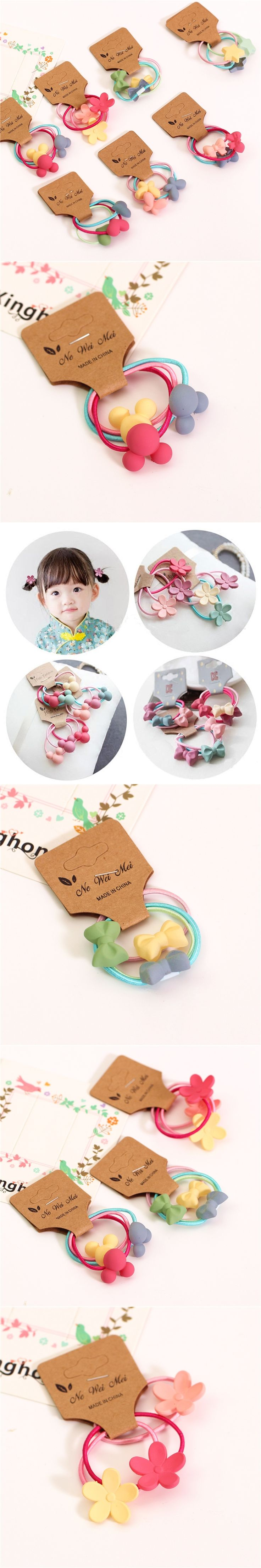 nice new girls hair accessories hairbands candy color plastic cartoon star ornament haar band accessories decoration SF-9